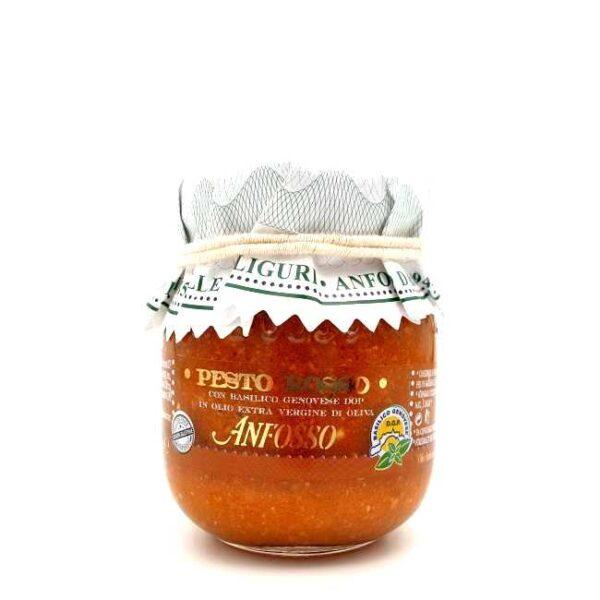 Pesto tosso (rød pesto), med beasilikum fra Genova, fra Liguria, Italia, 85 g