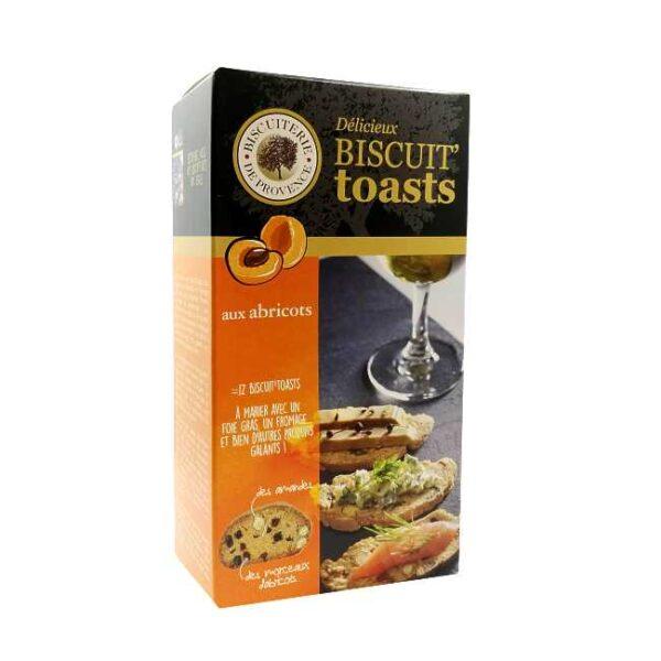 Biscuit toasts aux abricots (aprikoskjeks) fra franske Biscuiterie de Provence, 120 g
