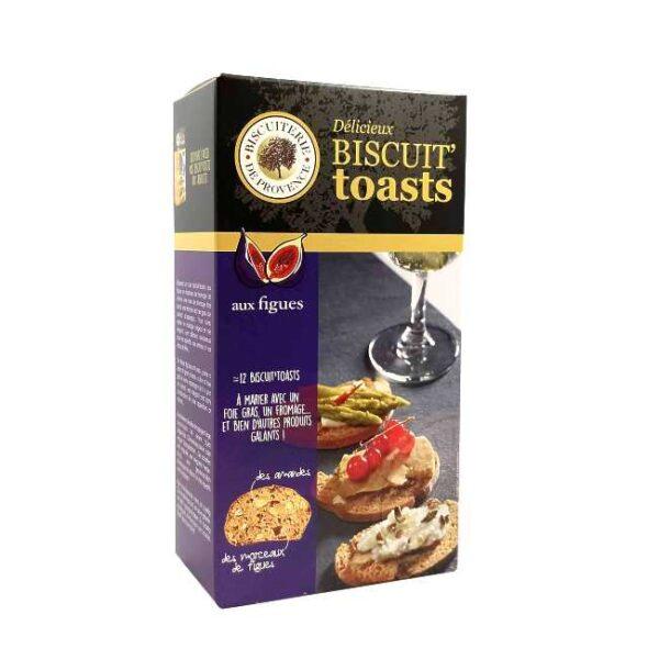 Biscuit toasts aux figues (fikenkjeks) fra franske Biscuiterie de Provence, 120 g