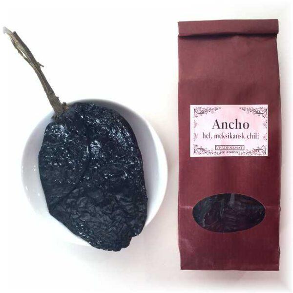 50 g hel, tørket anchochili (med stilk)