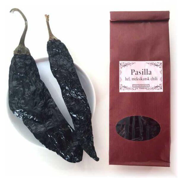 30 g hel, tørket pasillachili (med stilk)