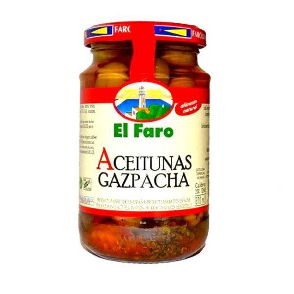 Glass med 350 g spanske kryddermarinerte oliven og andre pickles