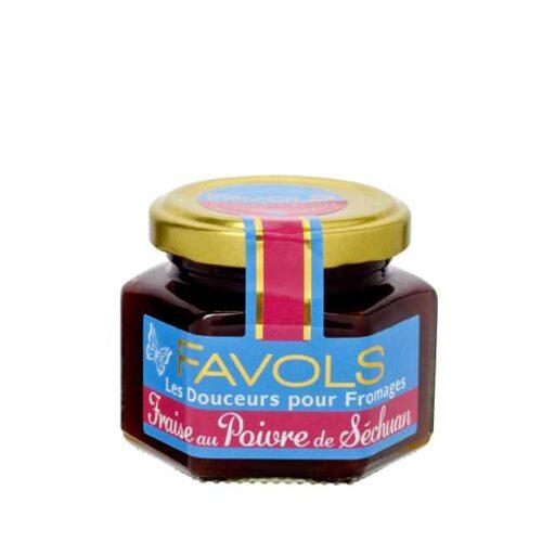 110 g fransk syltetøy til ost: Jordbær og szechuanpepper