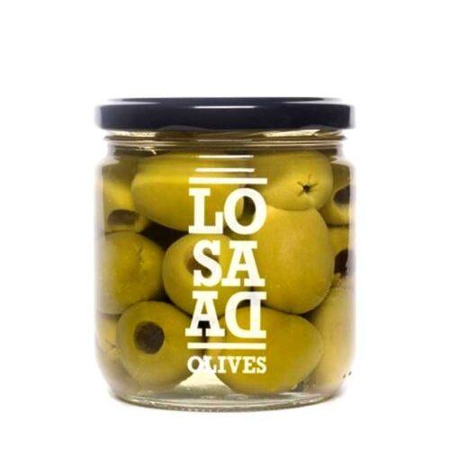 345 g hele, steinløse gordaloliven i saltlake (derav 169 g oliven)