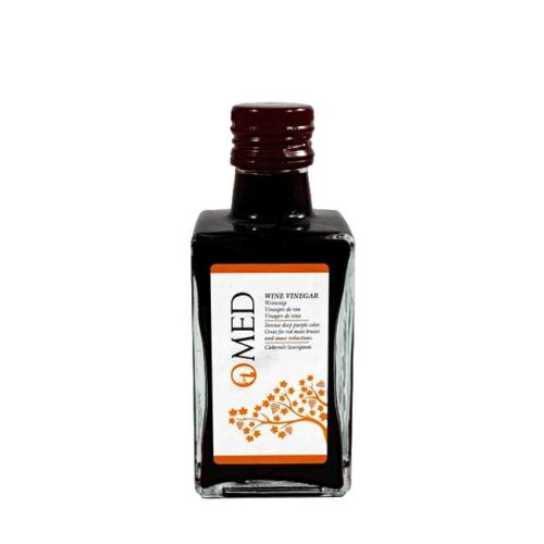 250 ml spansk rødvinseddik fra O-Med, laget av druesorten Cabernet sauvignon