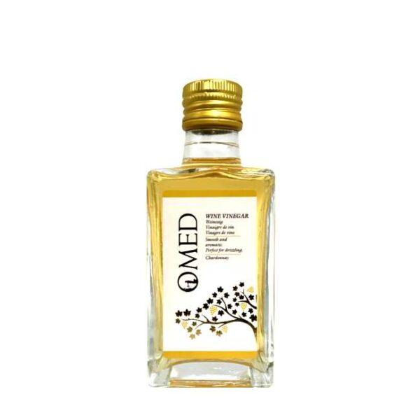 250 ml spansk hvitvinseddik fra O-Med, laget av druesorten Chardonnay