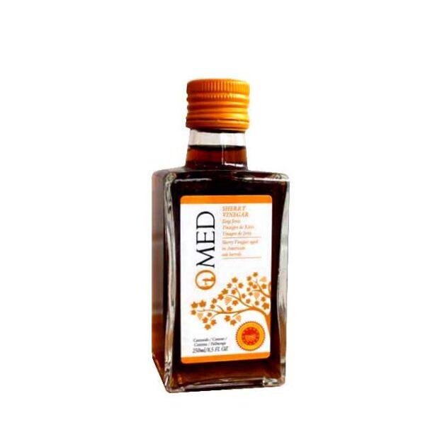 250 ml spansk sherryeddik fra O-Med, laget av druesorten Palomino, dyrket i Jerez
