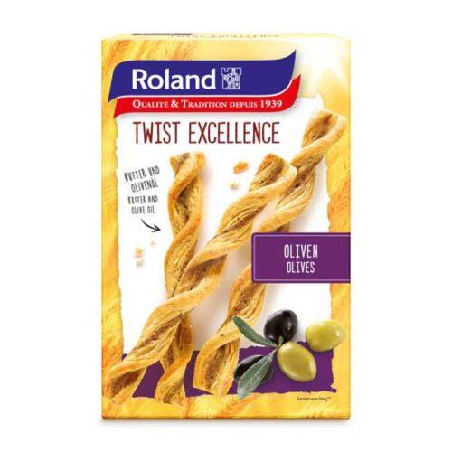 Butterdeigsnacks med oliven (tapenade) fra sveitsiske Roland, 100 g