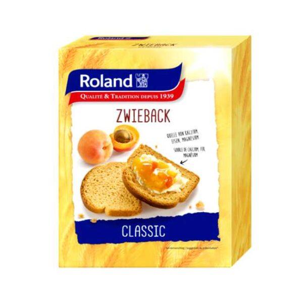 Biscottes/Zwieback (kavring) fra sveitsiske Roland, 165 g