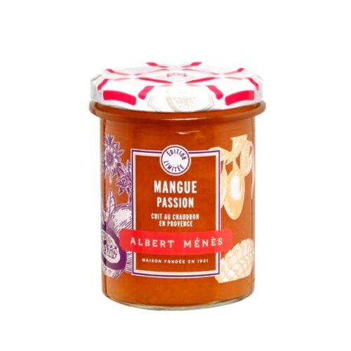 280 g fransk mango- og pasjonsfruktsyltetøy fra Albert Ménès