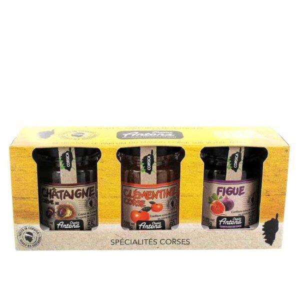 Gavepakke: 3 stk koriskanske syltetøy til ost, à 110 g