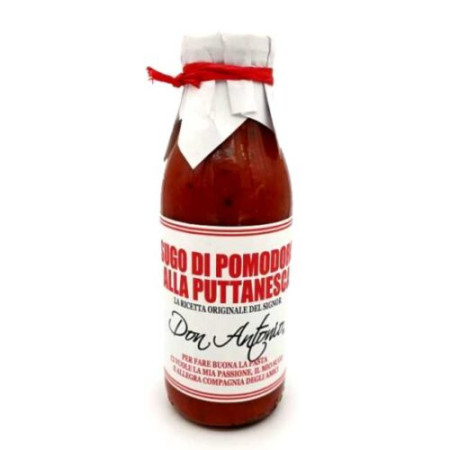 500 ml ekte italiensk pastasaus. Til puttanesca-pasta.