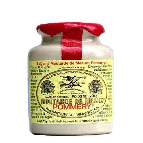 250 g sennep fra Meaux i et forseglet steingodsglass