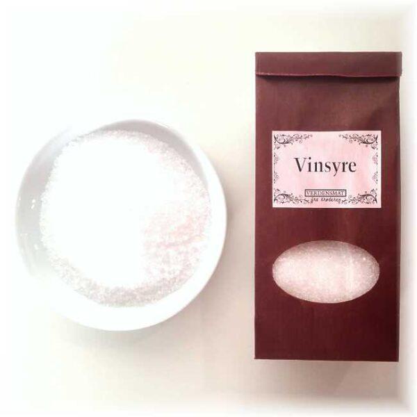 110 g ren, krystallisert vinsyre