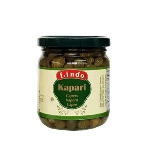 200 g kapers (capucines) saltlake fra Tyrkia, hvorav 120 g kapers
