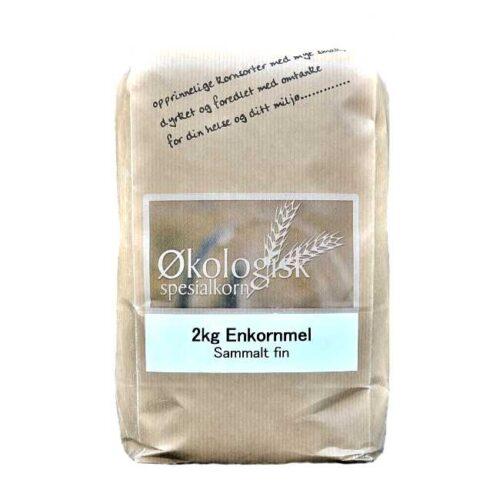 2 kg økologisk, norsk enkornmel fra Sigdal Mølle