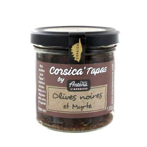 130 g Tapenade/krem av svarte oliven og myrtebær fra Corsica