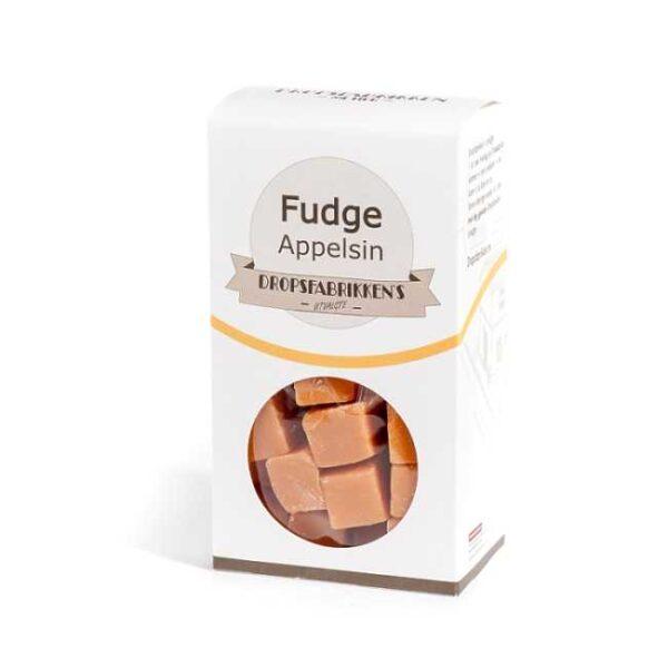 Eske med 100 g fudge (myk karamell) med appelsinsmak