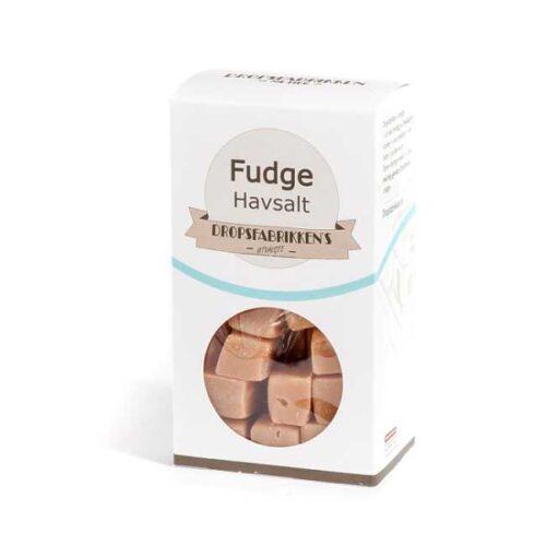 Eske med 100 g fudge (myk karamell) med havsalt
