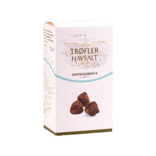 Eske med 100 g sjokoladetrøfler med havsalt