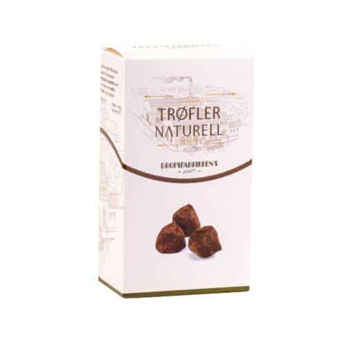 Eske med 100 g sjokoladetrøfler (naturelle)
