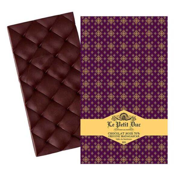 Økologisk, mørk sjokolade laget av kakaobønner fra Madagaskar, produsert av provensalske Le Petit Duc