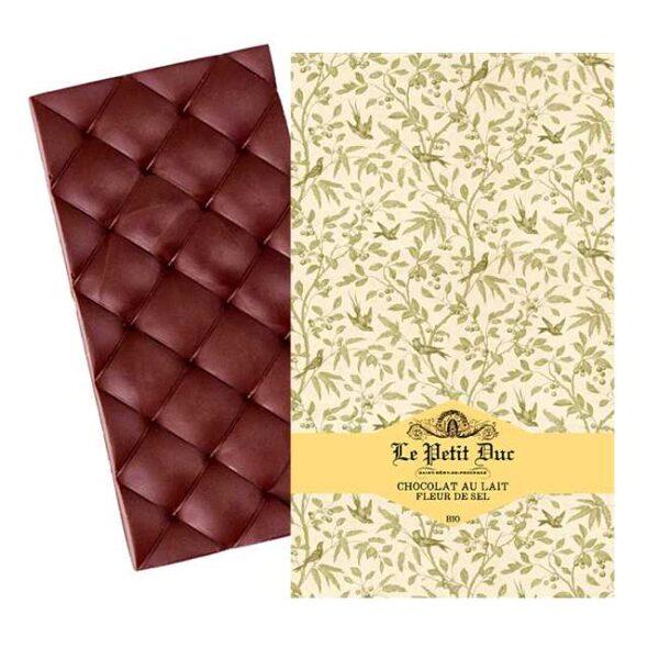 Økologisk, melkesjokolade med fransk havsalt fra provensalske Le Petit Duc