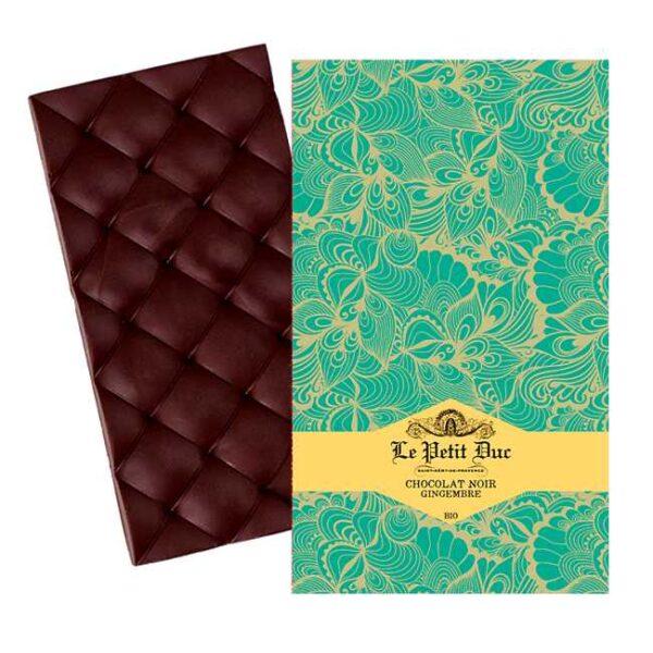Økologisk, mørk sjokolade med ingefær fra provensalske Le Petit Duc
