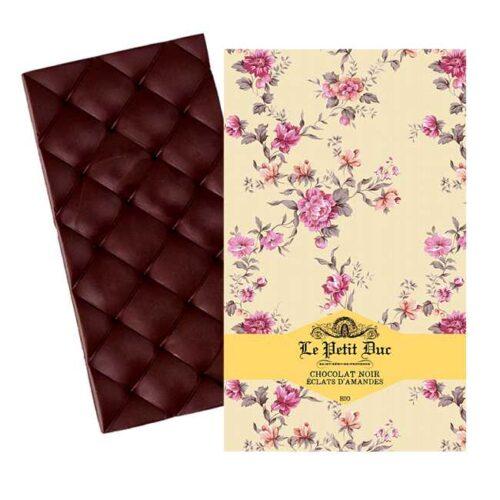 Økologisk, mørk sjokolade med knste mandler fra provensalske Le Petit Duc