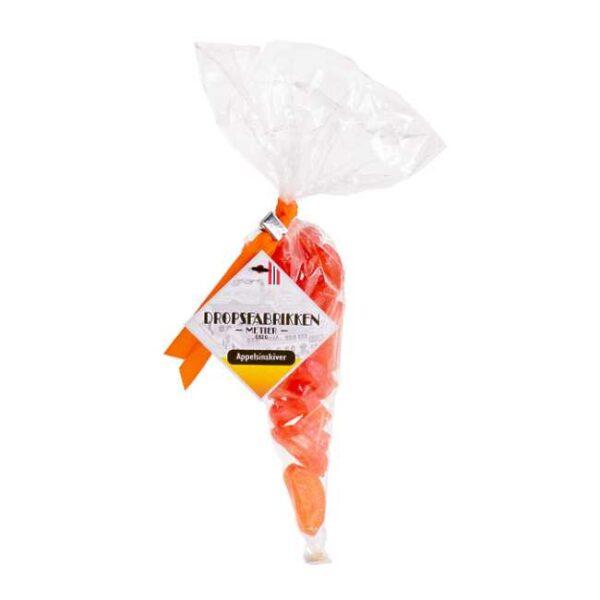 120 g norskproduserte appelsindrops i kremmerhus