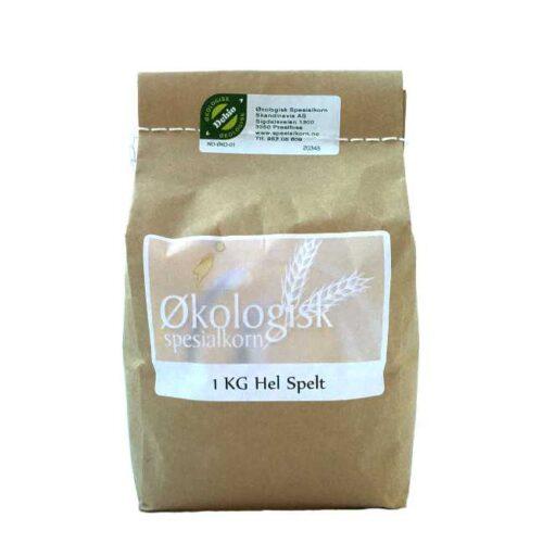 1 kg økologiske, norskproduserte hele korn av spelt fra Sigdal Mølle