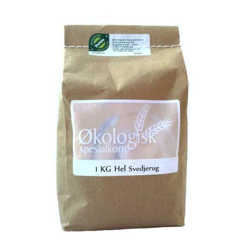 1 kg økologiske, norskproduserte hele korn av svedjerud fra Sigdal Mølle