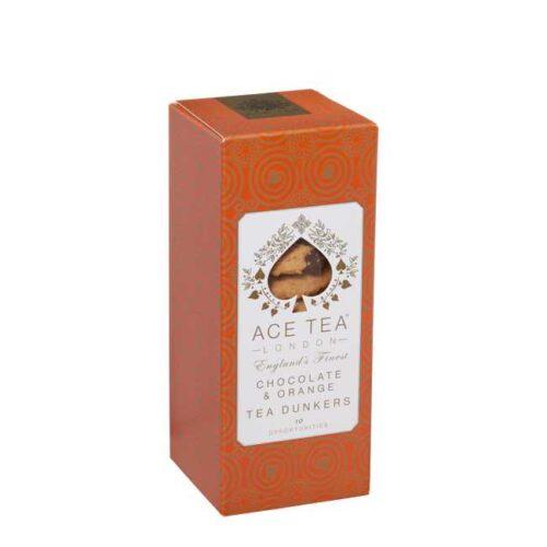 150 g tea dunkers (kjeks til teen) med sjokolade og appelsin fra England