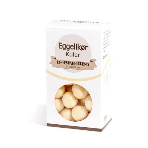 Eske med 100 g eggelikørkuler (sjokoladekonfekt fylt med eggelikør)