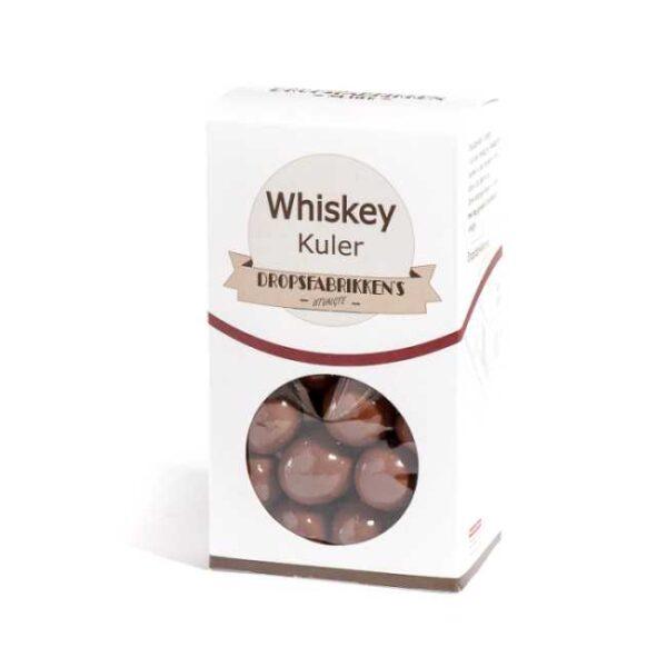 Eske med 100 g whiskeykuler (sjokoladekonfekt fylt med bourbon whiskey)