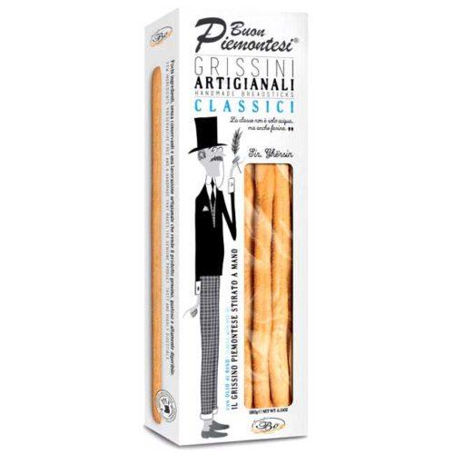 180 g håndlagde, naturelle brødpinner, produsert i Italia