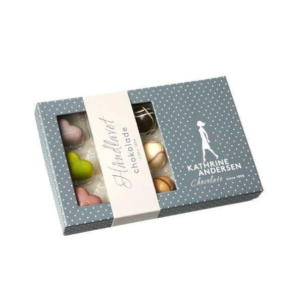 90 g håndlagd, fylt sjokoladekonfekt fra danske Kathrine Andersen