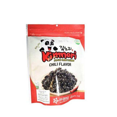 """40 g tangsnacks med chili (""""crispy seaweed"""") fra Korea"""