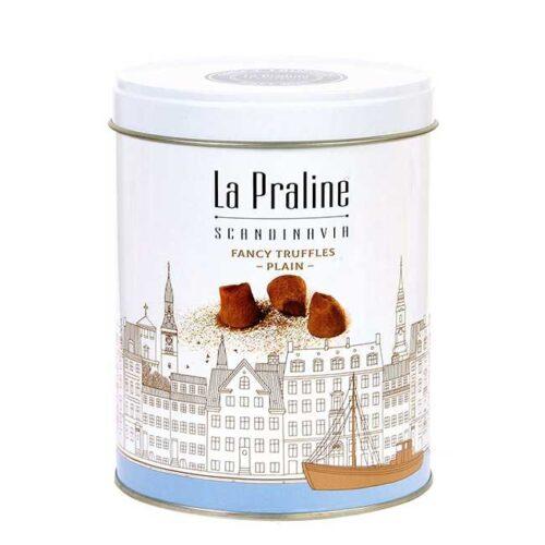 200 g naturelle sjokoladetrøfler i en lekker boks fra La Praline