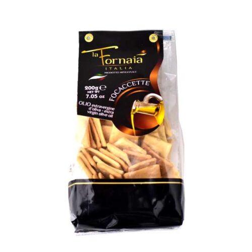 200 g ovnsbakte focacciachips med extravergine olivenolje