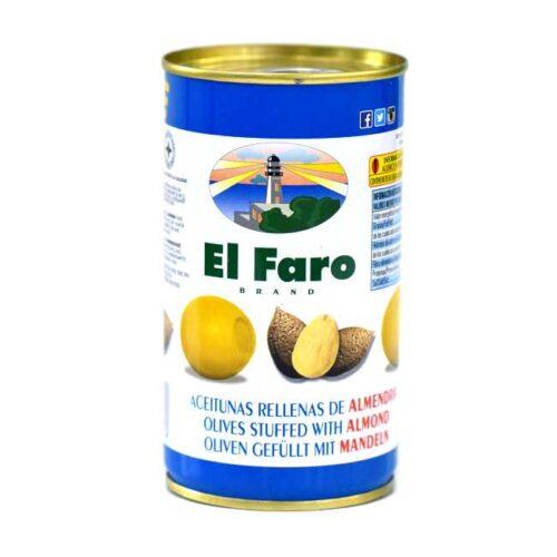 Spanske oliven fylt med mandel, 350 g