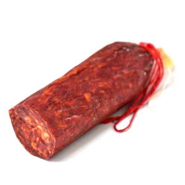 Ca. 450 g sterk chorizopølse fra Baskerland (en halv pølse, vakumpakket), Lahouratate