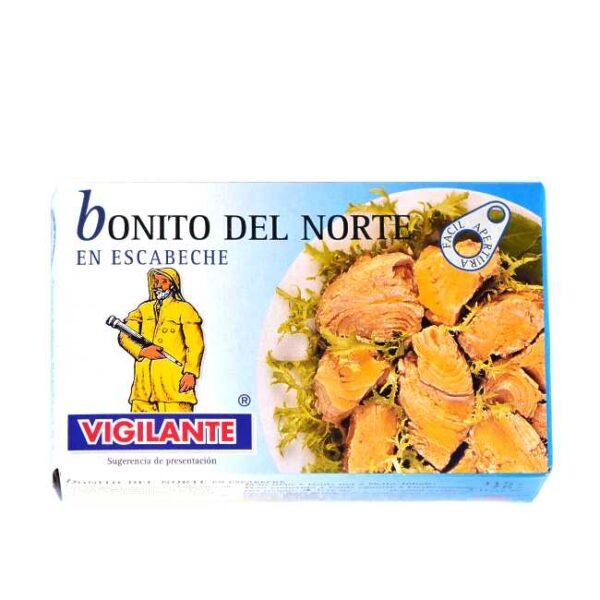 Bonitt i krydderolje (bonito del norte en escabeche)
