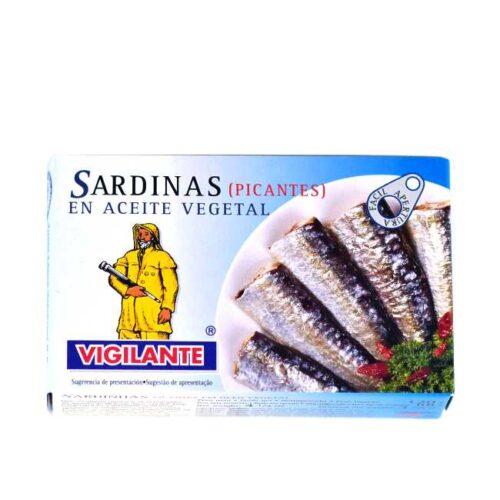 Spanske sardiner i chiliolje (Vigilante), 120 g