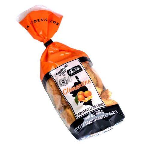 300 g korsikanske canistrelli (biscotti) med klementin