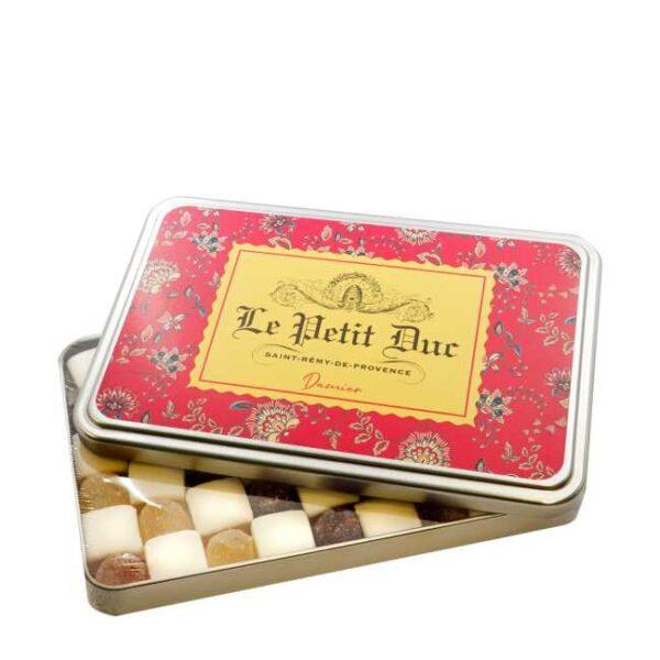 120 g calissons (mandelputer) og pâtes de fruits (fruktdrops) fra Provence, produsert av Le Petit Duc