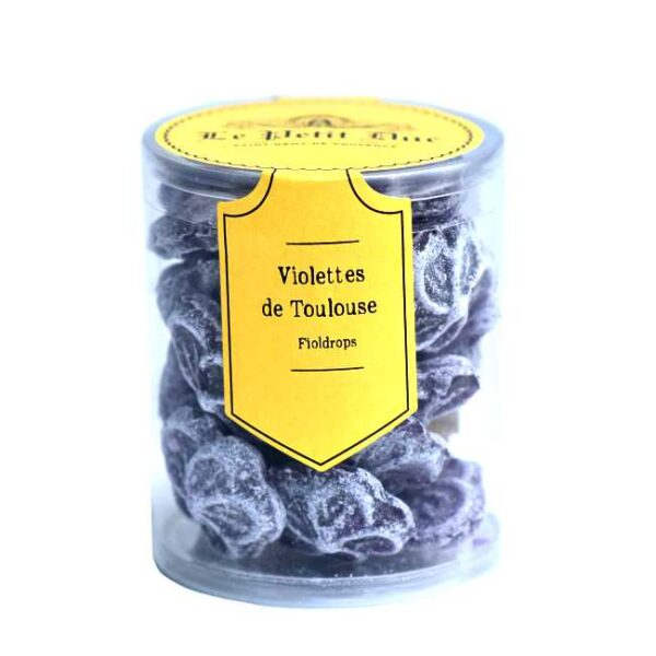 110 g Violettes de Toulouse (franske fioldrops), produsert i Provence av Le Petit Duc