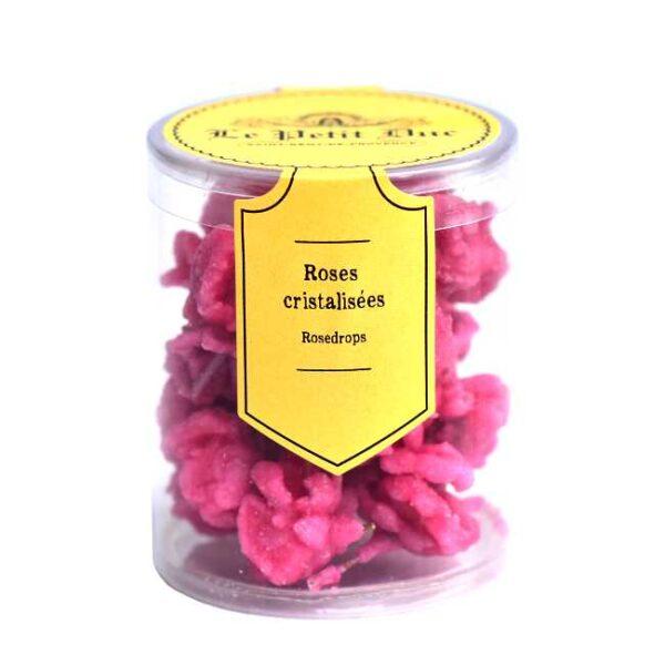 50 g Roses cristalisées (krystalliserte rosekronblader), produsert i Provence av Le Petit Duc