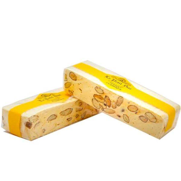 100 g klassisk, fransk nougat med mandler og honning, produsert i Provence av Le Petit Duc