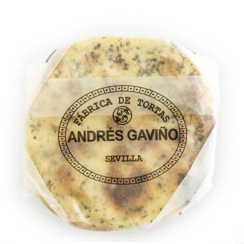 6 stk (180 g) tortas saladas de aceite (olivenoljekaker med rosmarin), produsert i Sevilla (Spania)